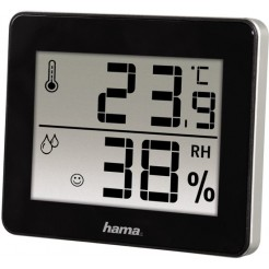 Hama Thermo/Hygrometer TH-130 Zwart